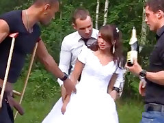 Russian one of a pair luvs an bi-racial group-poke outdoors