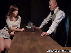 Japanese whore Aihara Miho is fucked, creampied and jizzed by several clients