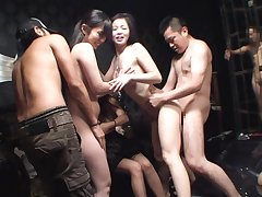 JAV swingers club orgy cheating making love party in HD